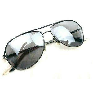 Christian Dior Gunmetal Gray Aviator Sunglasses